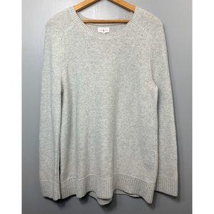LOU & GREY Light Gray Crew Neck Sweater